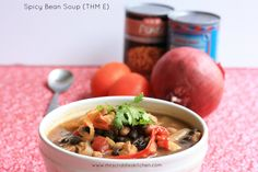Spicy Bean Soup- An E-ASY E meal for THMers. Packed FULL of flavor.