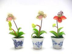 1:12 Dollhouse Miniature Clay Pottery Planter Um//Miniature Gardening