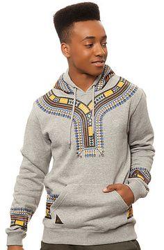 10 Deep Sweatshirt Dashiki Hoody in Heather Grey