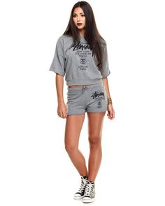 Stussy - World Tour S/S French Terry Crew Sweatshirt