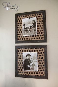 Cheap and easy Photo Frame with Clip... Love that burlap too!!