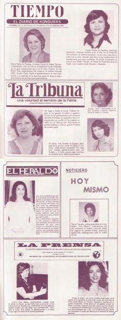 Periodistas del espectáculo de a principios de los 80s en Honduras.