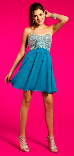 Beaded Strapless Dre