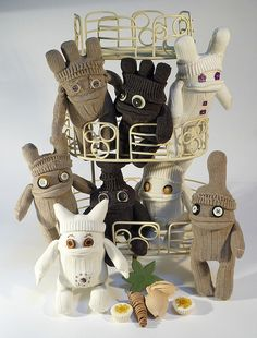 Group of Sock Gardeners awesome bunch of ugly bugglies plushie monsters