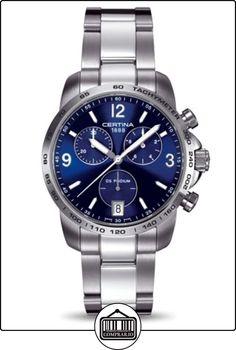 Certina C001.417.11.047.00 - Reloj para hombres, correa de acero inoxidable color gris de  ✿ Relojes para hombre - (Gama media/alta) ✿