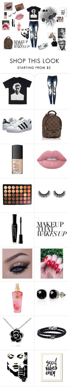 """Justin Bieber"" by emiliepannerup on Polyvore featuring adidas Originals, Louis Vuitton, NARS Cosmetics, Lime Crime, Morphe, Bourjois, Victoria's Secret, Belk & Co., Phillip Gavriel and Justin Bieber"