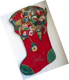 Vintage Christmas Tree Skirt Handmade Felt Appliques Santa Angel ...