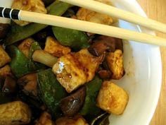 Recipe: Tofu Stir-Fry with Snow Peas and Mushrooms