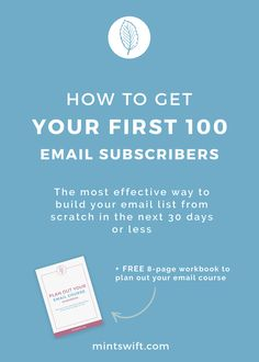 Building list from scratch? Learn how to get your first 100 email subscribers with the most effective way which will help you build your email list from scratch in the next 30 days or less