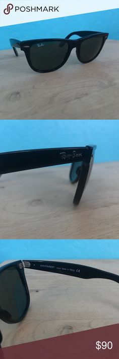 Ray Ban Wayfarer Classic AUTHENTIC Original Ray Ban Wayfarer Classic in black. Some scratches on the frames due to rubbing but NO scratches or marks on the lenses whatsoever. Great condition! Ray-Ban Accessories Sunglasses