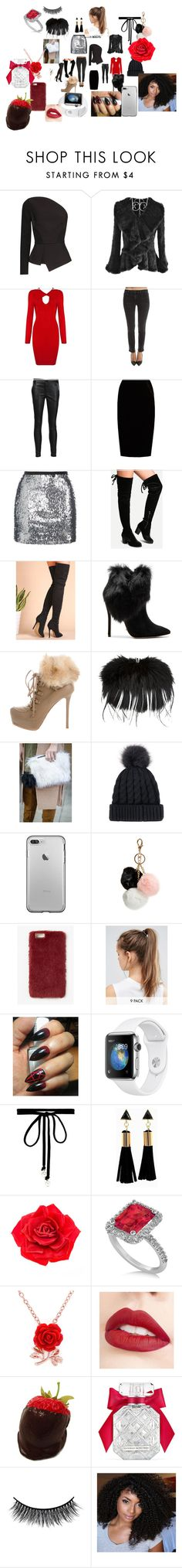 """""""#64"""" by awilliamssaddler ❤ liked on Polyvore featuring Roland Mouret, Helmut Lang, RtA, Jupe By Jackie, Topshop, WithChic, Schutz, Le Silla, Alexander McQueen and GUESS"""