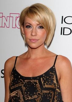 Short sleek bob haircut with bangs - Farah Fath hairstyles