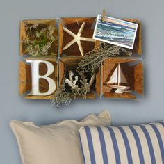hang a crate - fill with beachy items!