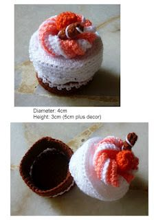 Crochet Mini Cake Container