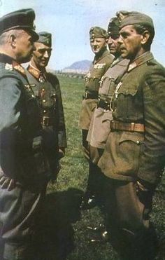 Walter Model visiting the Supreme Command of the Hungarian 1st Army by GLORY. The largest archive of german WWII images, via Flickr