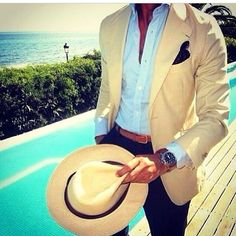 Men, hats are making a comeback.... Check out this delicious outfit for your summer vacation. Ladies will love it. Archaeologous.com for your travel assistance to Greece and Turkey. #Men'sFashion #Men #VacationFashion