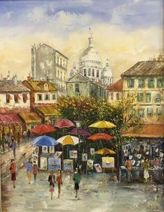 Óleo sobre Tela 50x60 - Montmartre - Paris www.taniapaupitzartes.blogspot.com