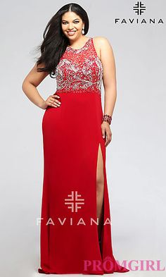 Faviana 9375 dress for your next formal event at The Castle. We are an authorized retailer for all Faviana dresses and every 9375 is brand new with all original tags! Plus Size Holiday Dresses, Plus Size Gowns Formal, Evening Dresses Plus Size, Evening Gowns, Full Figure Dress, Prom Dresses 2016, Prom 2016, Prom Gowns, Faviana Dresses