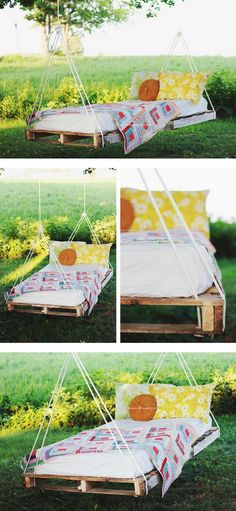 Check out how to build a DIY swing bed from pallet wood @istandarddesign