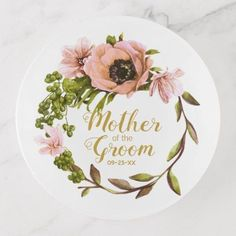 Pink Peony Wreath Mother of the Groom ID456 Trinket Trays - bridal party gifts wedding ideas diy custom