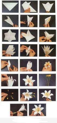 Paper Flower - #diy #origamiflowers