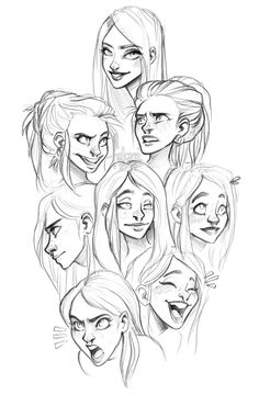 faces by Fukari on @DeviantArt