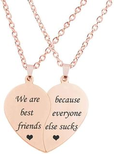 Bff Necklaces, Best Friend Necklaces, Best Friend Jewelry, Gifts For Friends, Gifts For Her, Best Friends, Friend Gifts, Cute Jewelry, Gold Jewelry