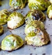 Christmas Roasted Brussels Sprouts with Cranberries