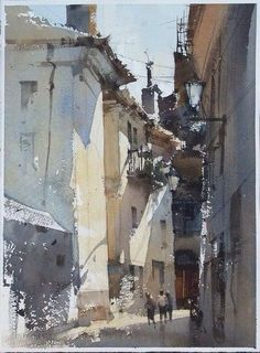 Risultati immagini per chien chung wei watercolor Art Aquarelle, Watercolor Sketch, Watercolor Artists, Watercolour Painting, Watercolours, Watercolor Architecture, Watercolor Landscape, Landscape Paintings, Urban Sketching