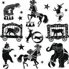 circus アニマルズ ロイヤリティフリーストックのベクターアート