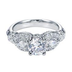 Platinum Victorian 3 Stone Engagement Ring
