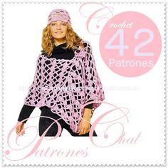 Delicadezas en crochet Gabriela: 42 chal en crochet con patrones
