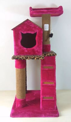 gimnasio rascador arañador con casita para gatos. exclusivo Cool Cat Trees, Diy Cat Tree, Cat Tree Plans, Cat Playhouse, Cat Gym, Dog Furniture, Cat Accessories, Scratching Post, Cat Crafts
