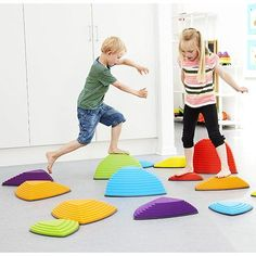 Gonge Riverstones - Best Active Play for Ages 2 to 5 - Fat Brain Toys Montessori Room, Ninja Party, Lakeshore Learning, Mobile Shop, River Stones, Toy Rooms, Gross Motor, Outdoor Play, Cool Toys