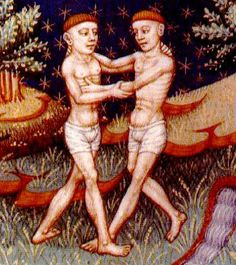 Gemini: illustration from a medieval book of astrology century) / Embodied Gemini Man In Love, Gemini And Virgo, Gemini Woman, Gemini People, Gemini Gemini, Most Compatible Zodiac Signs, Gemini Personality, Personality Types, Castor And Pollux