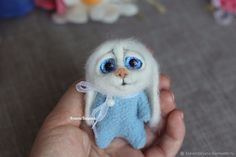 Купить Авторская валяная игрушка карманный зайка в интернет магазине на Ярмарке Мастеров