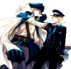 Arthur the pirate vs. Arthur the policeman - Again, this really speaks to the complexity of the character, that he could be alternately on and against the side of the law. - Art by Uhyo