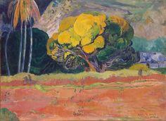 """Paul Gauguin, """"Fatata Te Moua"""", ou au pied d'une montagne, 1892"""