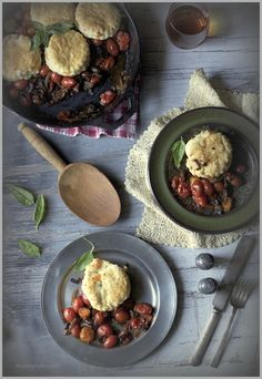 Savory Tomato Cobbler with Cheddar Biscuits | Thyme
