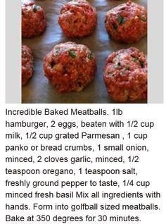 Meatball recipe by Gloria Garcia