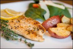 Grilled Lemon Pepper Chicken with Thyme Gremolata Lunch