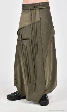 Длинная юбка Grunge A09385 - купить или заказать в интернет-магазине на Ярмарке Мастеров - FFT13RU. София | Экстравагантная юбка из плотного хлопка с…