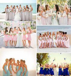 UK bridesmaid dresses for beach wedding party
