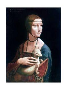 Portrait of Cecilia Gallerani, Lady with an Ermine, C1490 Giclee Print by Leonardo da Vinci at Art.com