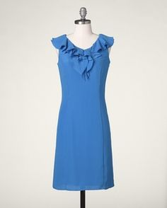 Lovely Spring dress in one of my favorite colors.