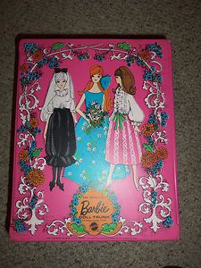 1969 Mod Barbie Pink The World of Barbie Doll Trunk | eBay