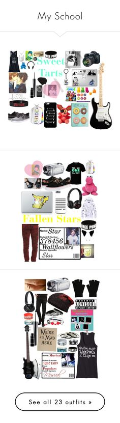 My School by xsweetboyx on Polyvore featuring polyvore, fashion, style, Bling…