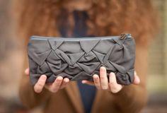 Piccola Ninfea pouch in gray cement. $27.00, via Etsy.