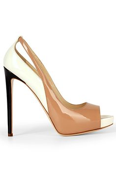 Burak Uyan - Shoes - 2014 Spring-Summer.   Neutral peep-toe pumps are great for the office:  sophisticated yet sexy! #shoes2014 #burakuyan #womensfashion2014