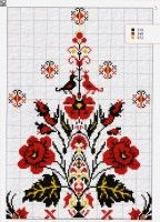 Folk Embroidery, Cross Stitch Embroidery, Machine Embroidery Designs, Cross Stitch Patterns, Cross Stitch Tree, Cross Stitch Flowers, Bordado Popular, Snitches Get Stitches, Tapestry Crochet